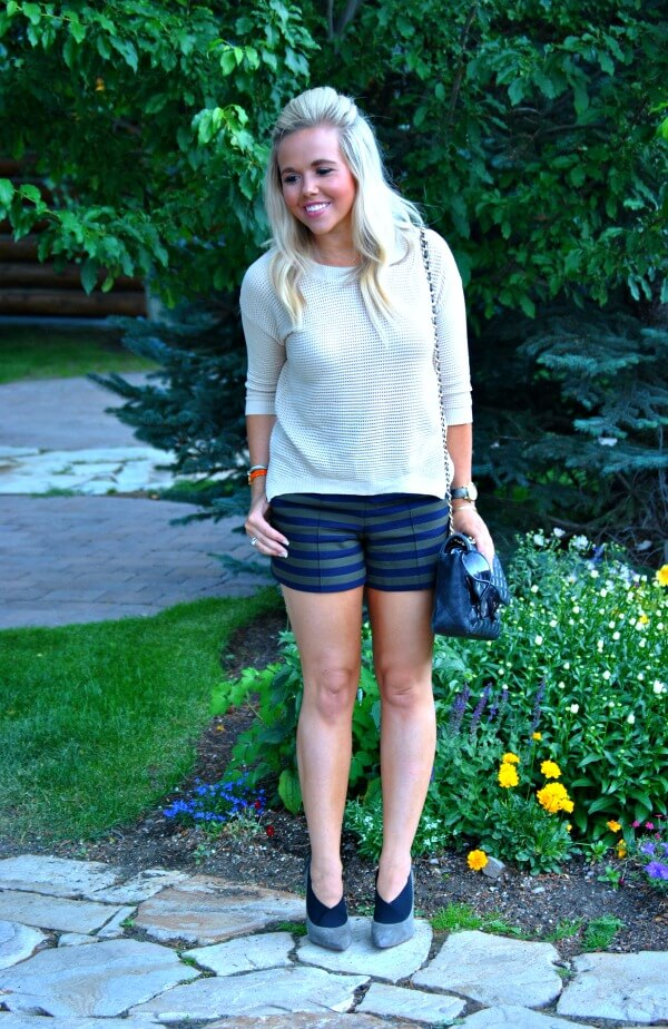 zara-striped-shorts