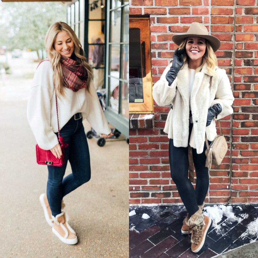 Jack Rogers sherpa sneakers featured by top fashion blog, Walking in Memphis in High Heels