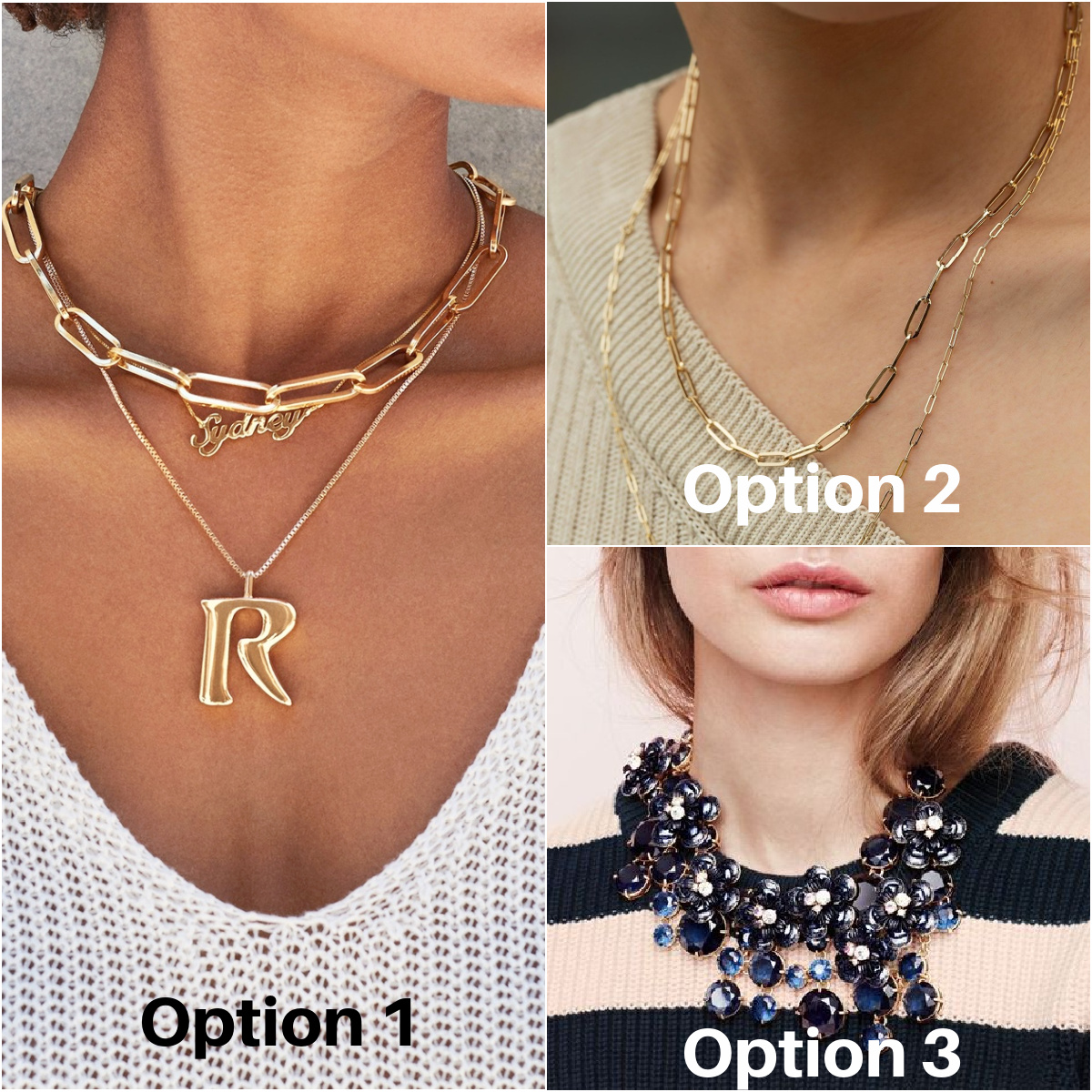 Gold Necklaces - Baublebar, AuRate, J.Crew